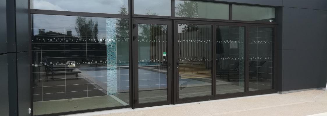 réalisation porte fenêtre alu Cantal