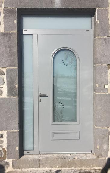 pose de porte d'entrée classique